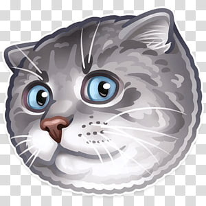 Sticker Whiskers Cat Telegram Dog, Cat PNG clipart