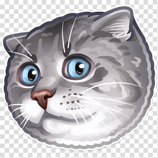 Sticker Whiskers Cat Telegram Dog, Cat PNG