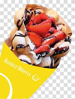 Sundae Belgian waffle Junk food Fast food, bubble Waffle PNG clipart