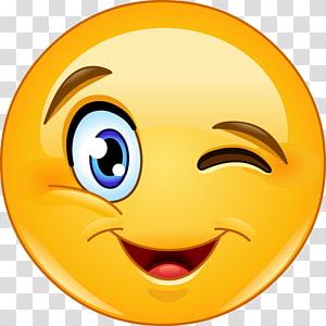 Emoticon Smiley Wink , smiley PNG