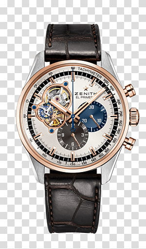 Zenith Chronograph Automatic watch Strap, watch PNG