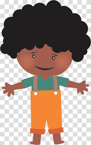 Afro-textured hair Child Hairstyle , cartoon illustrations PNG clipart