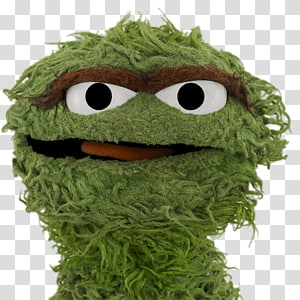 Sesame Street character plush toy, Sesame Street Oscar the Grouch Face PNG