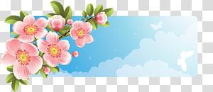 Flower Banner, floral banner PNG clipart