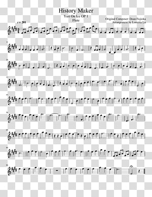 History Maker Sheet Music Flute Violin, name card of weed mildew PNG clipart