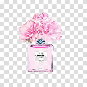 Chanel parfum bottle, Chanel No. 5 Watercolor painting Coco Perfume, perfume PNG clipart
