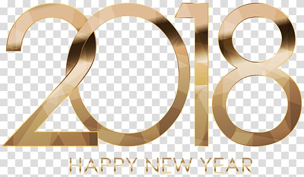 2018 happy new year illustration, 2018 Happy New Year Golden Letters PNG clipart
