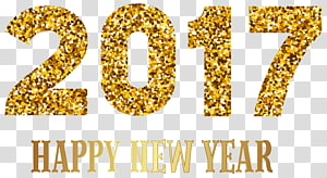 New Year's Day , 2017 Happy New Year , 2017 text overlay PNG clipart