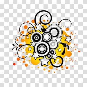 Free music Musical note Free content , Orange background star decoration PNG clipart
