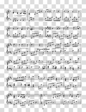 Sheet Music Second Star to the Right Musical note Piano, sheet music PNG clipart