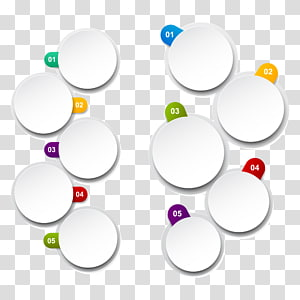 Material Circle Diagram, PPT element PNG clipart