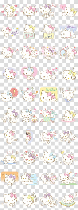 Hello Kitty Cat Sanrio Emoji My Melody, cat PNG clipart