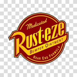 Rust-Eze bumper ointment logo, Lightning McQueen Cars Logo, car PNG