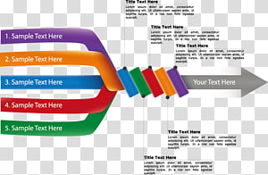 sample text here diagram, Flowchart Presentation Illustration, twisted arrows PNG clipart