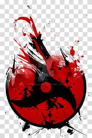 red and black abstract logo, Itachi Uchiha Sasuke Uchiha Madara Uchiha Kakashi Hatake Obito Uchiha, crow PNG