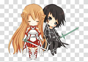 Kirito Asuna Drawing Sword Art Online Fan art, asuna e kirito PNG
