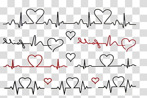 love line heartbeat PNG clipart