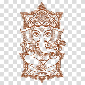Lord Ganesha mandala art, Ganesha Ganesh Chaturthi Hinduism, ganesha PNG