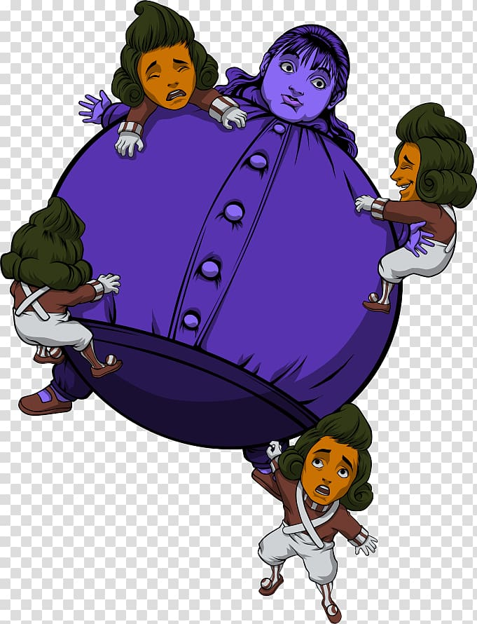T-shirt Violet Beauregarde Willy Wonka Oompa Loompa Charlie and the Chocolate Factory, T-shirt PNG clipart