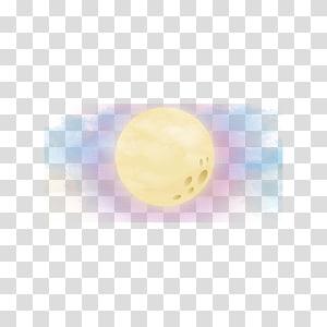 Yellow Circle Sky , Halloween moon PNG clipart