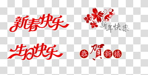 Chinese New Year Happy Birthday to You Happiness, Happy New Year PNG clipart