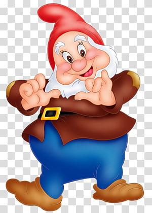 Seven Dwarfs Dopey Grumpy Sneezy Bashful, Dwarf PNG