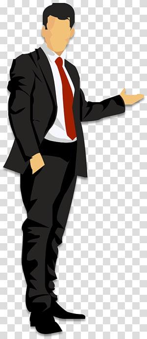 cartoon business man man PNG