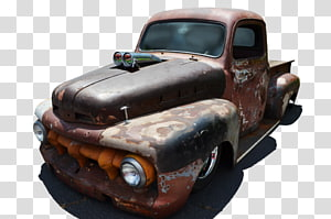 Classic car Pickup truck, old car PNG clipart
