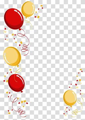 balloon border PNG