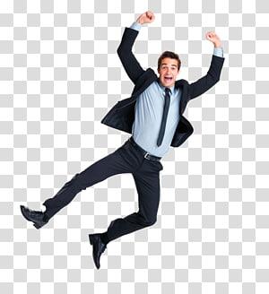 man jumping wearing black suit jacket illustration, Jumping , Jump up man PNG