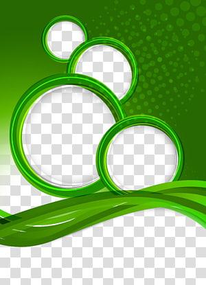 green circular frame PNG clipart