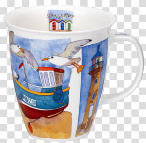 Coffee cup Sea Breeze Dunoon Mug Nevis, sea lighthouse PNG clipart