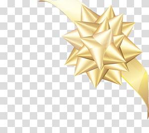 Ribbon Gold, Gold ribbon PNG