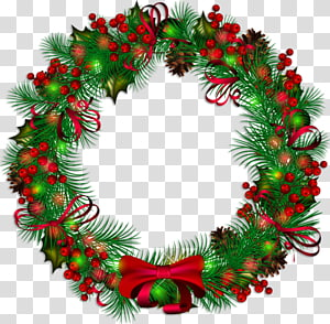 Wreath Christmas Garland , christmas PNG