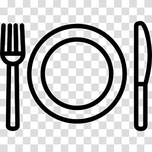 fork, plate, and spoon illustration, Knife Fork Plate Spoon, fork PNG