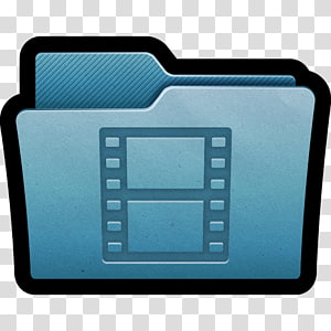 file folder, blue weighing scale multimedia, Folder Movies PNG