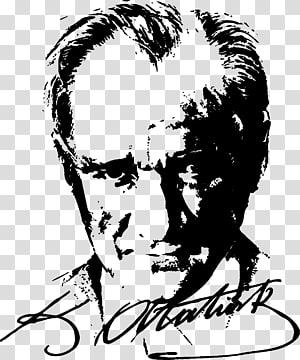 Mustafa Kemal Ataturk illustration with signature, Turkey Nutuk Turkish War of Independence Atatürk Silüeti, mustafa kemal PNG