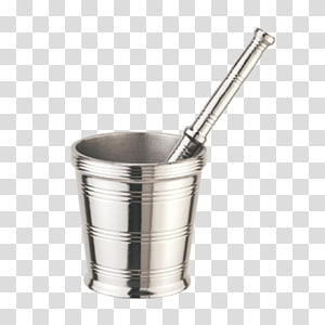 Mortar and pestle Stainless steel Kitchen utensil, Pestle And Mortar PNG