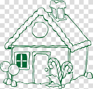 Gingerbread house The Gingerbread Man Coloring book, cute cartoon house house house PNG clipart