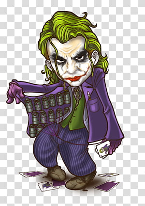 Joker Harley Quinn Riddler Batman Chibi, joker PNG clipart