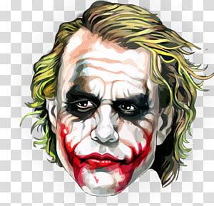 The Joker illustration, Joker Heath Ledger The Dark Knight Harley Quinn Batman, joker PNG clipart