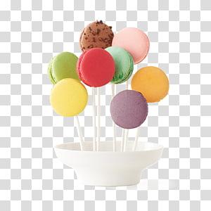 Macaron Macaroon Ganache Lollipop Almond biscuit, macarons PNG