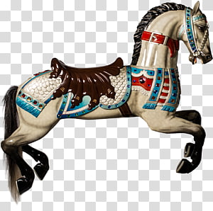 Mustang Stallion Horse Harnesses Horse Tack Rein, carousel horse PNG
