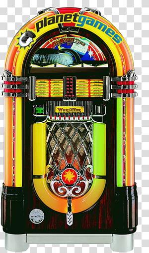 Vintage Jukeboxes Wurlitzer Phonograph record Rock-Ola, JUKE BOX PNG clipart