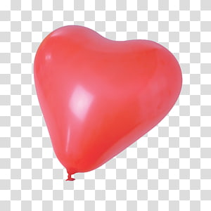 Toy balloon Red Heart Gas, balloon PNG
