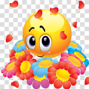 Smiley Emoticon Flower , smiley PNG