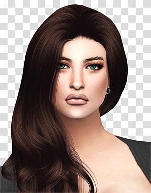 Brown hair Hair coloring Black hair, hair PNG clipart