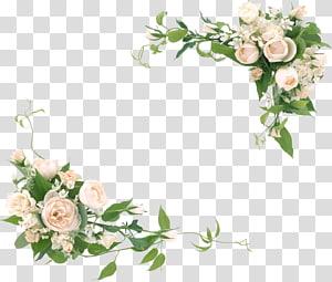white roses illustration, Wedding invitation Desktop Frames Wedding , leaf frame PNG clipart