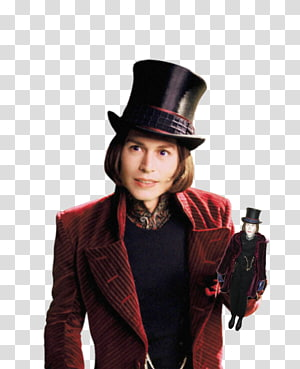 Willy Wonka Charlie and the Chocolate Factory Johnny Depp Charlie Bucket The Mad Hatter, johnny depp PNG