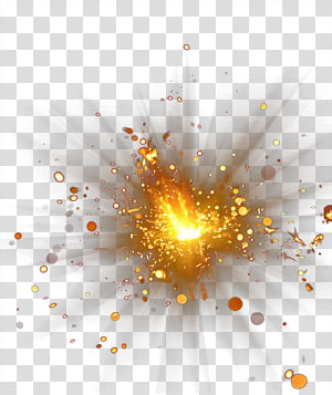emitting bright gold PNG
